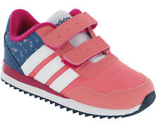 Adidas Girls Trainers V Jog CMF Infant Pink Touch Fastening F99460 UK 5 - 9.5