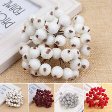 40x Mini Christmas Xmas Foam Frosted Fruit Artificial Berry Flower Home Decor
