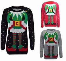 UK Womens Jumper Christmas Xmas Ladies Mens Knitted Unisex Joker Novelty Top