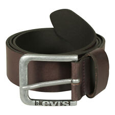 Levi's Men's Belt 226929 New Lockwood Leather Brown Made in Italy