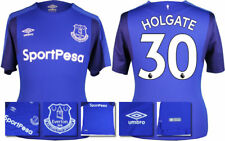 17 / 18 - UMBRO ; EVERTON HOME SHIRT SS  / HOLGATE 30 = ADULTS
