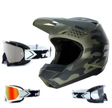 SHIFT whit3 MX MTB enduro motocross CASCO CAMO VERDE two-x RACE Gafas de Cross
