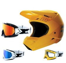 SHIFT whit3 MX MTB Enduro Motocross Casco Amarillo two-x RACE Gafas de Cross