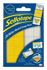 Sellotape Sticky Hook and Loop Sets, 20 x 20mm Ref 4542 - Pack of 24
