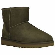 Ugg Australia Classic II Mini Spruce Womens Sheepskin Winter Ankle Boots