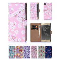 32nd Floral Series - PU Leather Book Wallet Case Cover For Sony Xperia XA1 Ultra