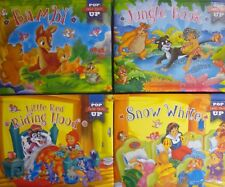 Fairy Tale Glittery Padded Pop Up Book -Snow White,Bambi,Jungle Book,Riding Hood
