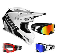 THOR SECTOR Ricochet CASCO CROSS Motocross Blanco Gris two-x Cohete crossbrill