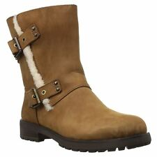 Ugg Australia Niels Chestnut Womens Leather Mid-Calf Winter Boots