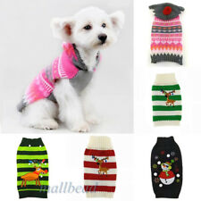 Knitted Puppy Dog Jumper Sweater Pet Clothes For Small Dogs Coat Apparel Costume