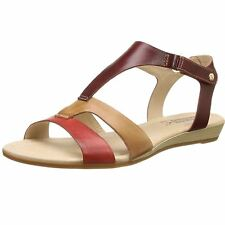 Pikolinos Alcudia 816-0752 Coral Womens Leather Ankle Strap Sandals