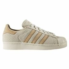 Adidas Superstar Fashion J Clear Brown Linen Khaki Kids Trainers