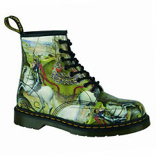 DR.MARTENS - 1460 George & DRAGON BACKHAND Multi DOCUMENTI rarità 8 fori SCARPE