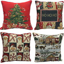 """Christmas Festive Xmas Tapestry Scatter Square Filled Cushion / Cover 17"""" x 17"""""""