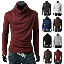 hommes Sweat-shirt Uni Pull-over PULL PULL-OVER Tortue col bénitier LOISIR haut