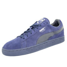 Puma SUEDE CLASSIC MONO REPTILE-U Chaussures Mode Sneakers Homme Cuir Suede Bleu