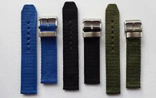MILITARY STYLE NYLON STRAP - BLACK/GREEN/BLUE - 18 & 20MM FOR SEIKO MILITARY/SNK
