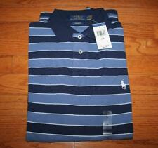 NEW NWT Mens Polo Ralph Lauren Custom Fit Polo Shirt Pony Logo Navy Striped *C1
