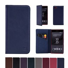 32nd Classic Series - Real Leather Book Wallet Case For Sony Xperia Z5 Compact