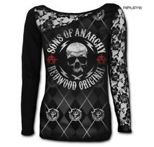 Spiral SONS OF ANARCHY Ladies L/Sleeve Lace Top REDWOOD Original All Sizes