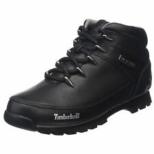 Timberland Euro Sprint Hiker Black Mens Leather Lace-up Casual Ankle Boots