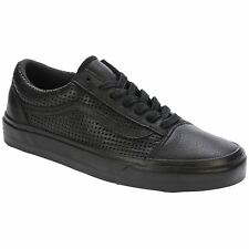Vans Square Perf Old Skool DX Black Women Leather Lace-up Trainers Sneaker Shoes