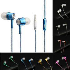 3.5mm auricolari in-ear stereo Microauricolari Bianco Mic per iPhone Samsung