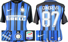 17 / 18 - NIKE; INTER MILAN HOME SHIRT SS + SERIE A BADGE / CANDREVA 87 =ADULTS
