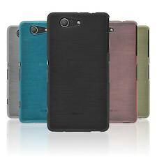 Coque en Silicone Sony Xperia Z3 Compact - brushed  + films de protection