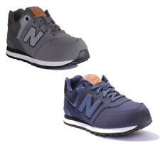 New Balance KL574YHG Youth Suede Leather Castlerock Trainers