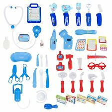 45 Pieces Pretend Doctor Playset with Electronic Stethoscope and Medical Doctor'
