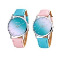 Womens Geneva Blue Pink Colour Fading Watch Ladies Wristwatch Gift UK Seller