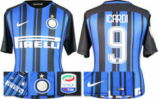 17 / 18 NIKE; INTER MILAN HOME SHIRT SS + SERIE A BADGE / ICARDI 9 = KIDS