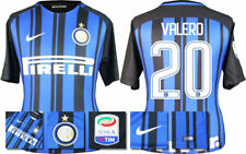 17 / 18 NIKE; INTER MILAN HOME SHIRT SS + SERIE A BADGE / VALERO 20 = KIDS