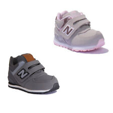 New Balance KL574YHI Infants Nubuck Leather Grey Trainers
