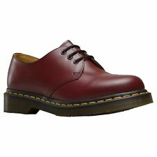 Dr.Martens 1461 3-Eyelet Cherry Red Mens Smooth Leather Lace-up Casual Shoes