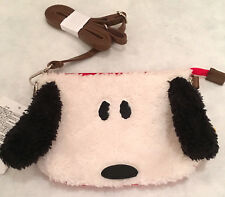 SNOOPY PLUSH SHOULDER BAG with REMOVABLE STRAP