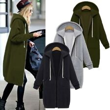 4-Color Women Warm Zipper Hoodie Sweater Hooded Long Jacket Sweatshirt Coat New