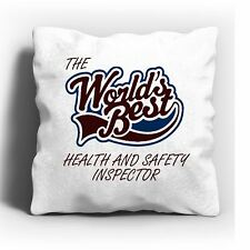 The Worlds Best Health And Safety Inspector Cushion