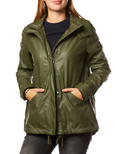 NUEVO TOMMY HILFIGER Chaqueta mujer impermeable dw0dw02198 VERDE OSCURO Green