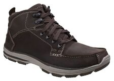 Skechers Garton Dodson Boots Mens Casual Leather Lace Up Memory Foam Insole
