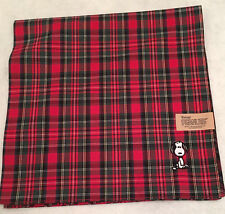 SNOOPY RED PLAID CLOTH with EMBROIDERED SNOOPY