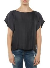NUEVO drykorn top blusa de mujer 112470 somia GRIS OSCURO GRIS OSCURO WOMEN