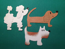 Dog Puppy Poodle, Dachsund, Terrier, Beagle Pooch Mutt Pack Walking Die Cuts