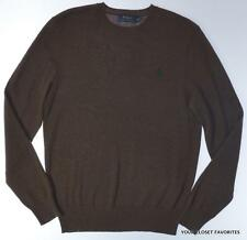 Polo Ralph Lauren Mens S Small 100% Cashmere Brown Pullover Sweater