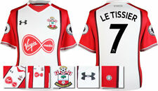 17 / 18- UNDER ARMOUR; SOUTHAMPTON HOME SHIRT SS +PATCHES / LE TISSIER 7 =ADULTS