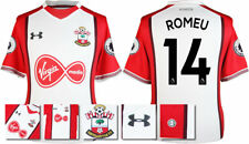 17 / 18- UNDER ARMOUR; SOUTHAMPTON HOME SHIRT SS + PATCHES / ROMEU 14 = ADULTS