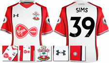 17 / 18- UNDER ARMOUR; SOUTHAMPTON HOME SHIRT SS + PATCHES / SIMS 39 = ADULTS