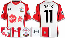 17 / 18- UNDER ARMOUR; SOUTHAMPTON HOME SHIRT SS + PATCHES / TADIC 11 = ADULTS