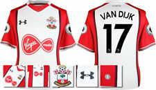 17 / 18- UNDER ARMOUR; SOUTHAMPTON HOME SHIRT SS + PATCHES / VAN DIJK 17 =ADULTS